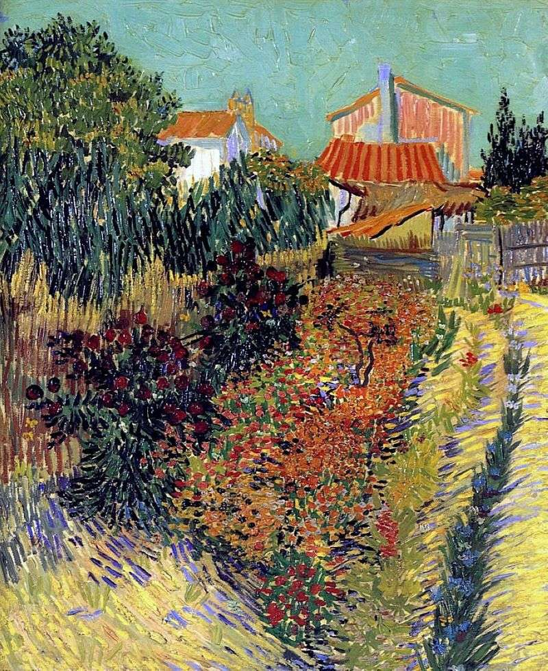 Ogród za domem   Vincent Van Gogh