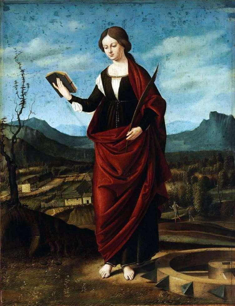 Święta Katarzyna z Aleksandrii   Marco Bazaiti