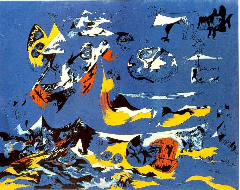 Niebieski   Jackson Pollock
