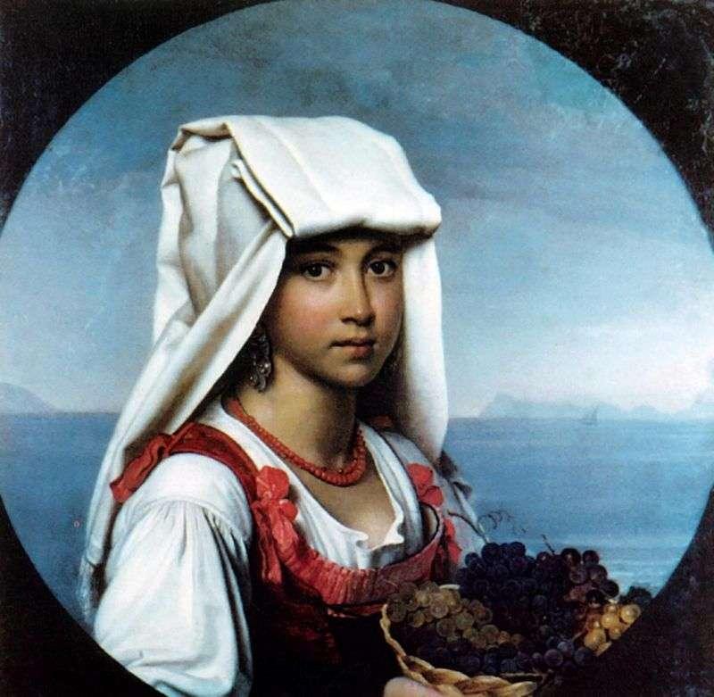 Neapolitańska Dziewczyna z owocami   Orest Kiprensky