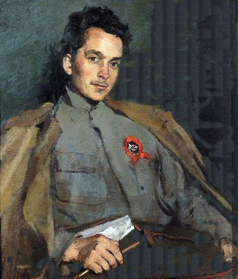 Portret pisarza D. A. Furmanov   Sergey Malyutin
