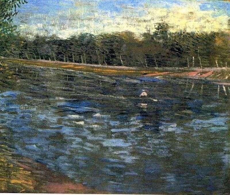 Sekwana i łódź wiosłowa   Vincent Van Gogh