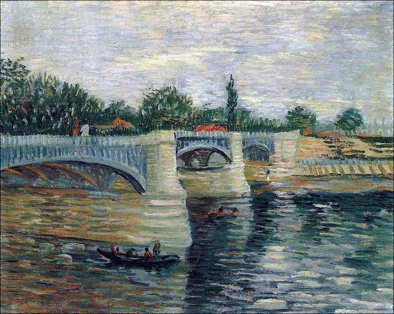 Sekwana z Grand Jet Pontoon Bridge   Vincent Van Gogh