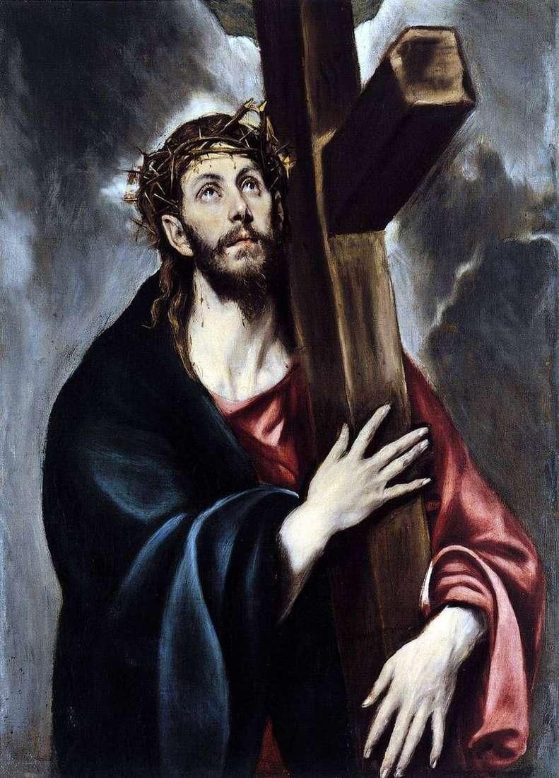 Chrystus niesie krzyż   El Greco