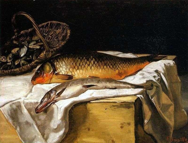 Martwa natura z rybami   Frederick Basile