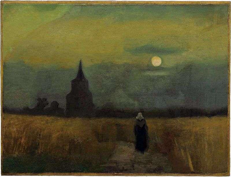 Stara wieża wśród pól   Vincent Van Gogh