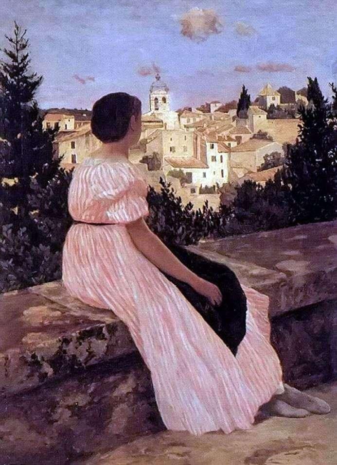 Różowa sukienka   Frederick Bazille