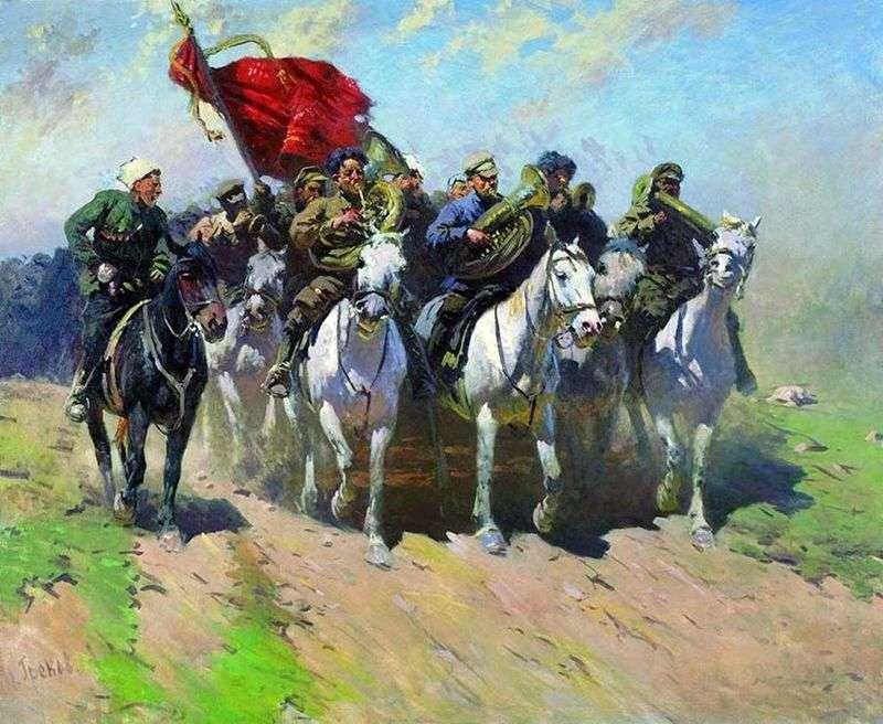 Trębacze z pierwszej konnej armii   Mitrofan Grekov
