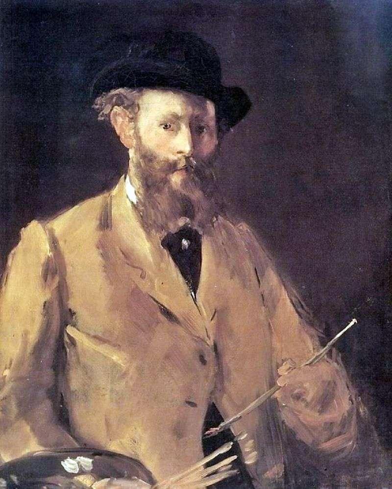 Autoportret z paletą   Edouard Manet