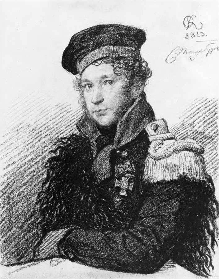 Portret A. R. Tomilova w formie milicji wojskowej   Orest Kiprensky