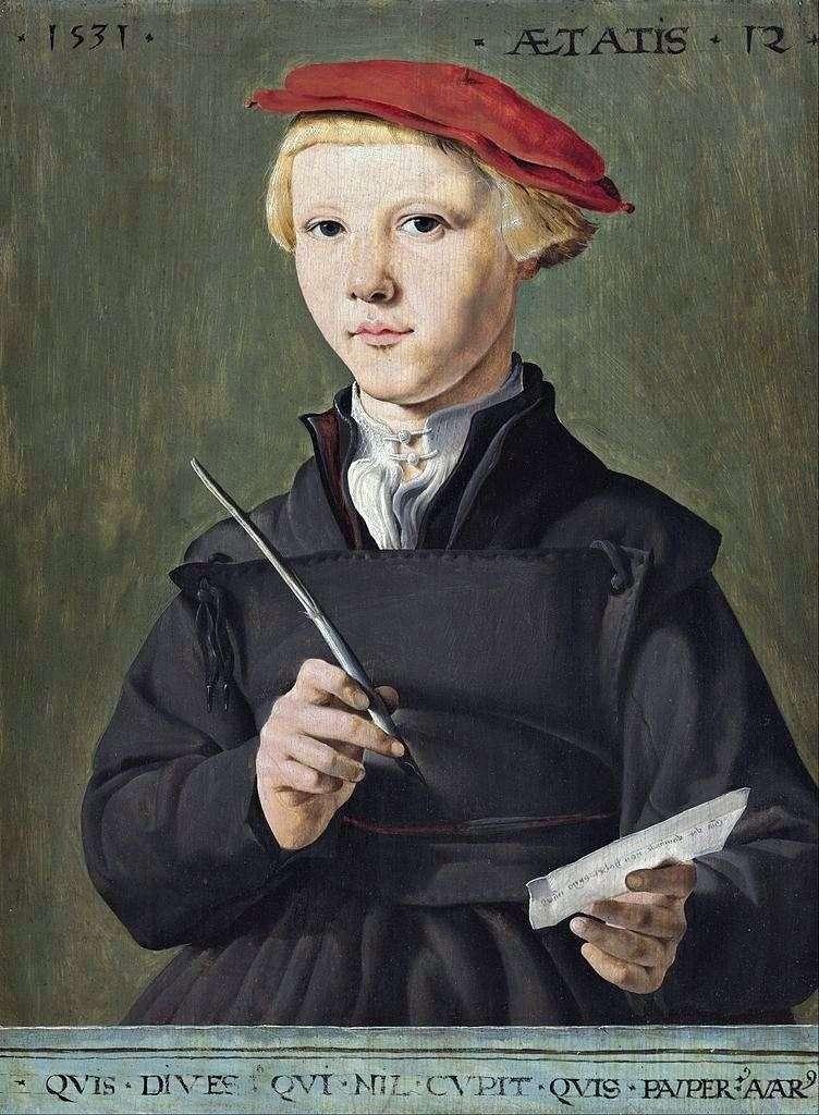Portret uczniaka   Martin van Hemskerk
