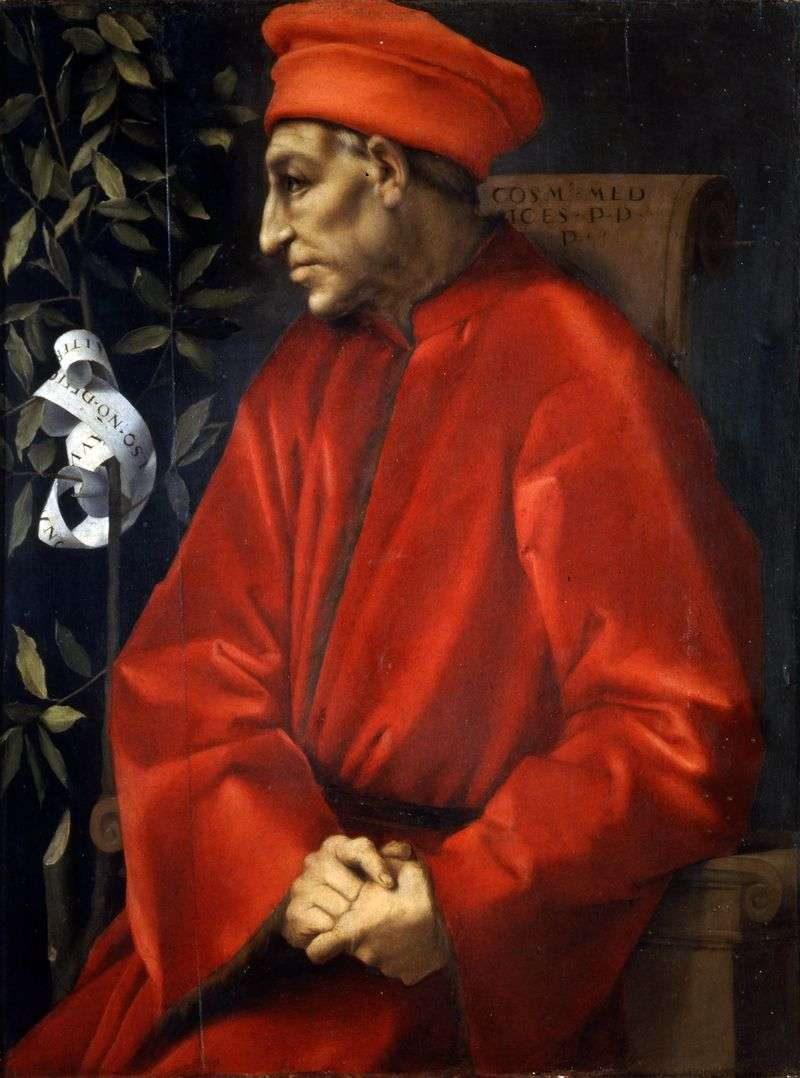 Portret Cosimo Senior Medici   Jacopo Pontormo