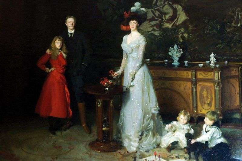 Sir George Sitwell, Lady Ida Sitwell i ich dzieci   John Sargent