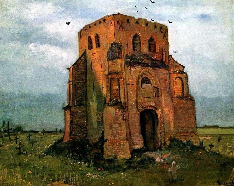 Stara wieża kościoła w Nuenen (Cmentarz chłop)   Vincent van Gogh