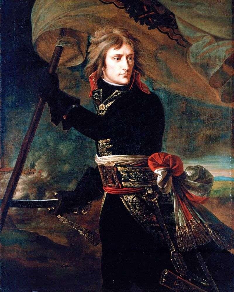 Bonaparte na moście Arkolsky 17 listopada   Antoine Gros