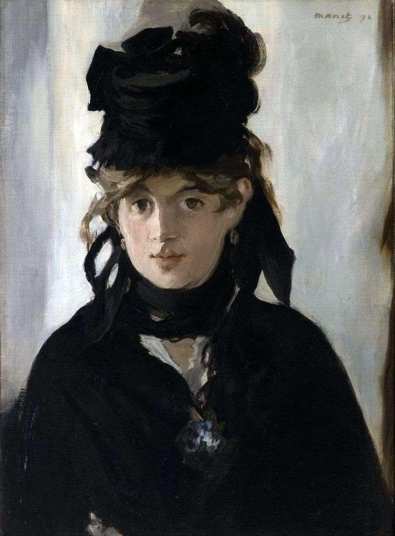 Bertha Morisot z bukietem fiołków   Edouard Manet