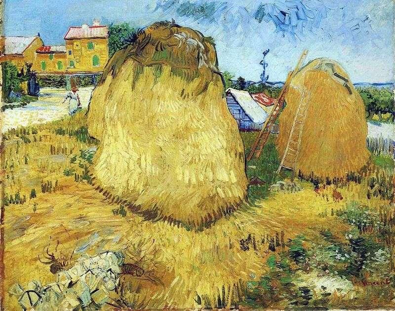 Stogi siana w Prowansji   Vincent Van Gogh