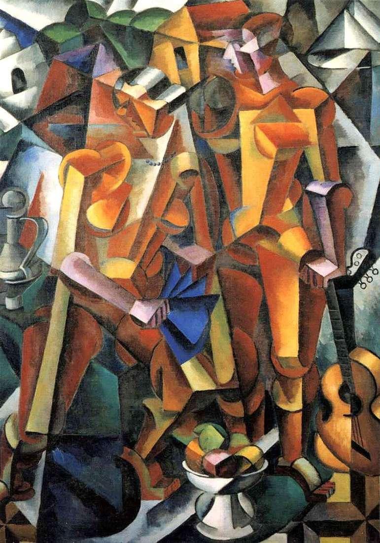 Kompozycja z postaciami   Ljubow Popowa
