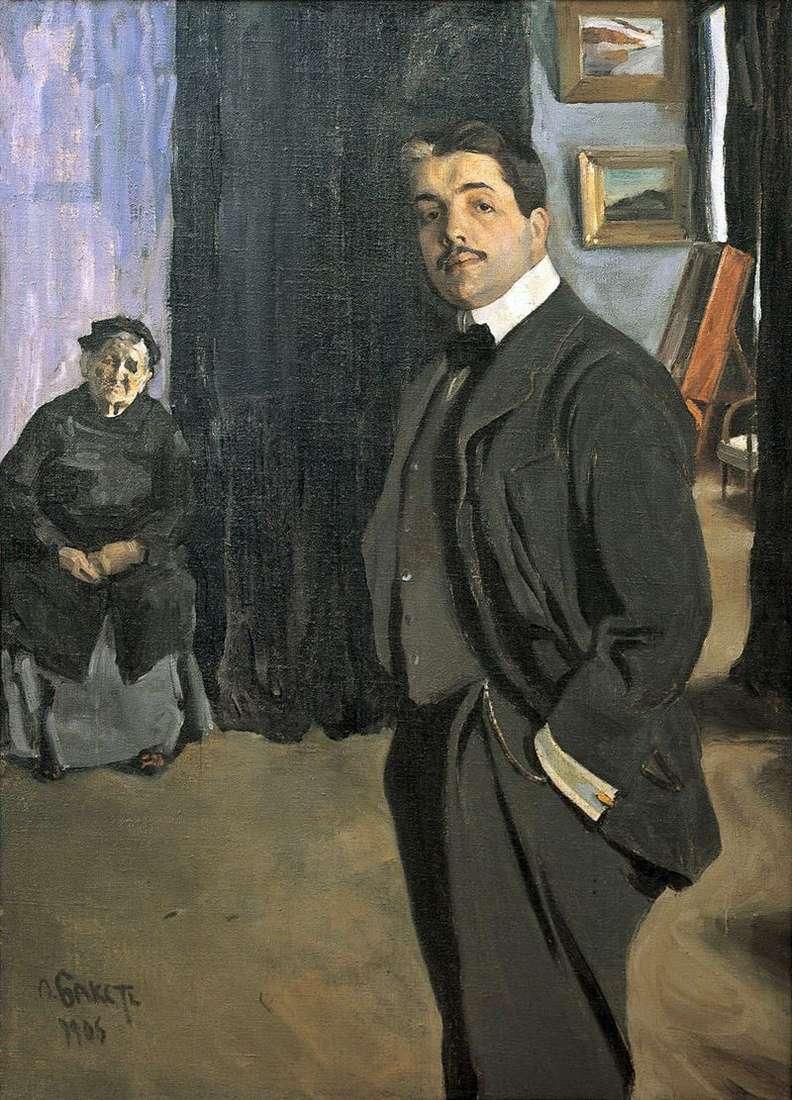 Portret Dyagileva z nianią   Leon Bakst