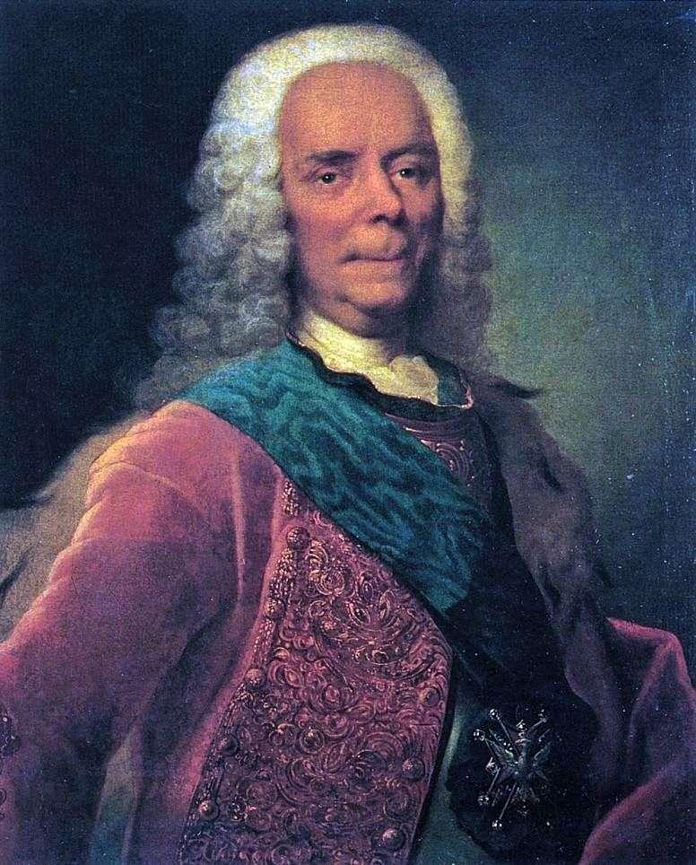 Portret księcia V. V. Dolgorukowa   Georg Christopher Groot