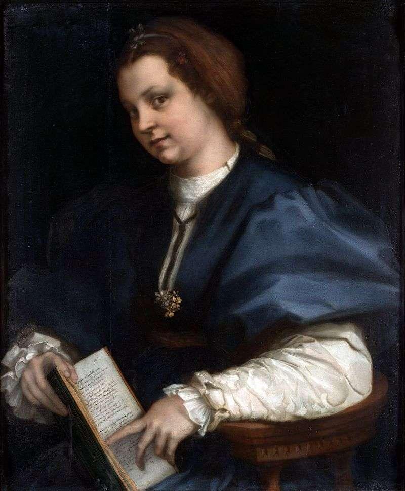 Dziewczyna z tomem Petrarka   Andrea del Sarto