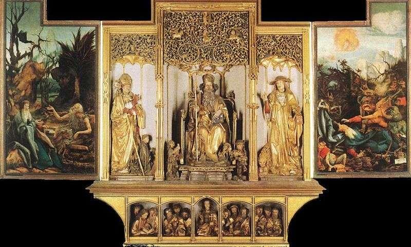 Isenheim Rzeźba ołtarzowa   Matthias Grunewald