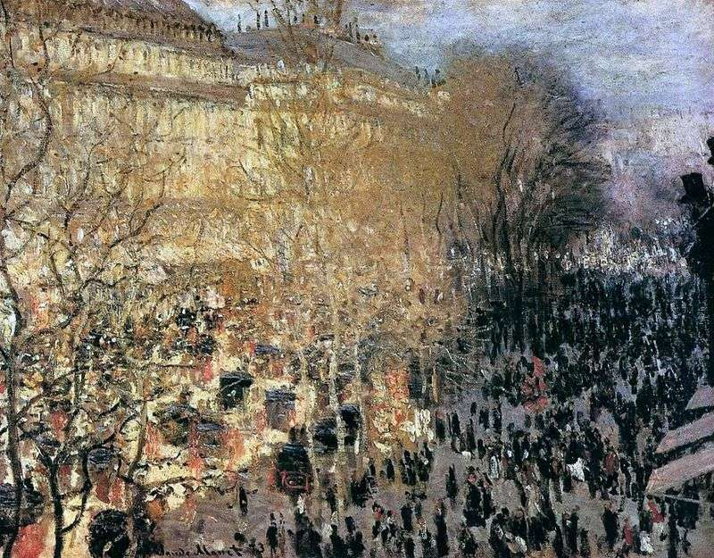 Bulwar Kapucynów   Claude Monet