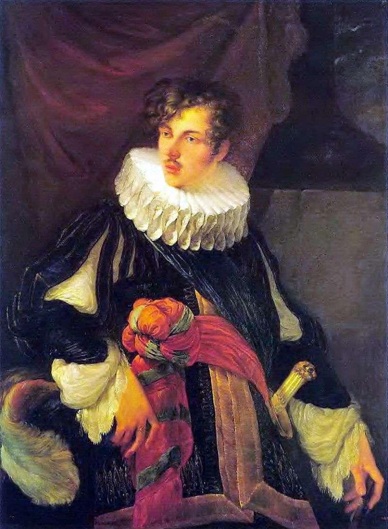 Portret V. A. Perovskyego w hiszpańskim stroju z XVII wieku   Orest Kiprensky