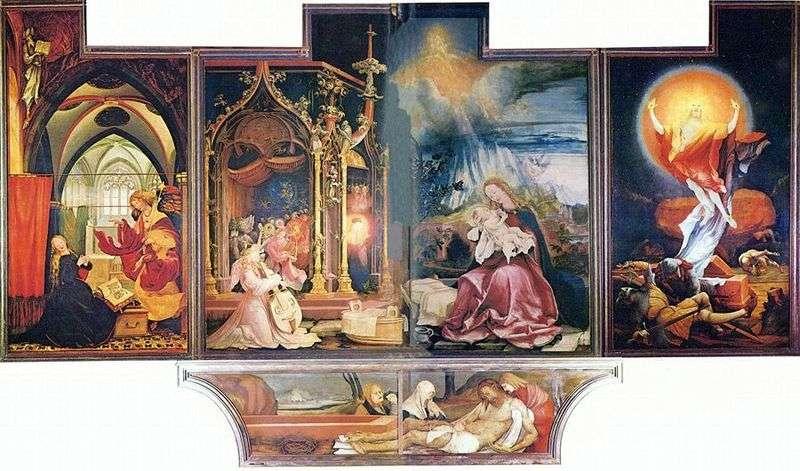 Isenheim Altar, drugi pociąg   Matthias Grunewald