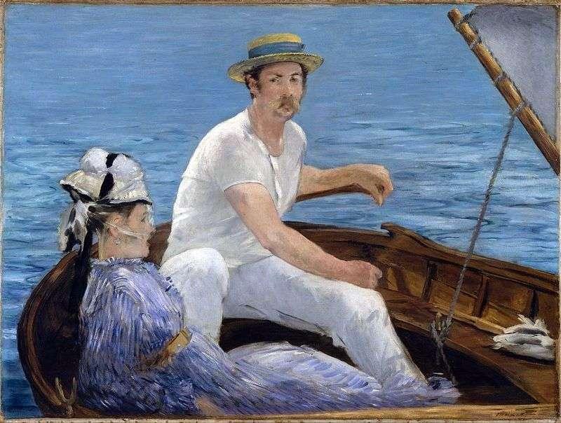 W łodzi   Edouard Manet