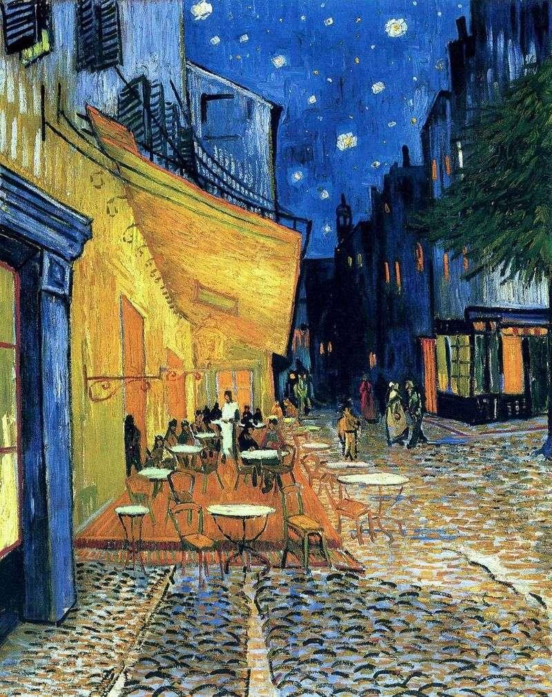 Taras Cafe na placu Forum w Arles, w nocy   Vincent Van Gogh