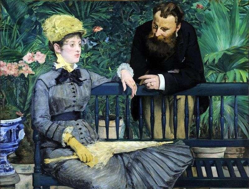 W szklarni   Edouard Manet