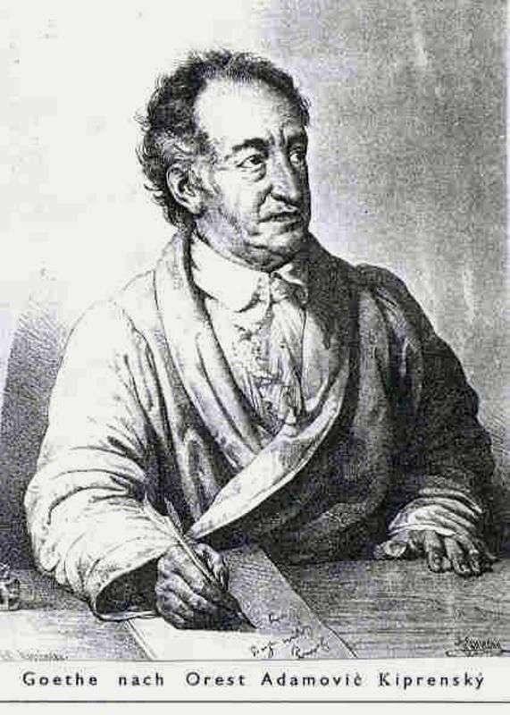 Portret Goethego   Orest Kiprensky