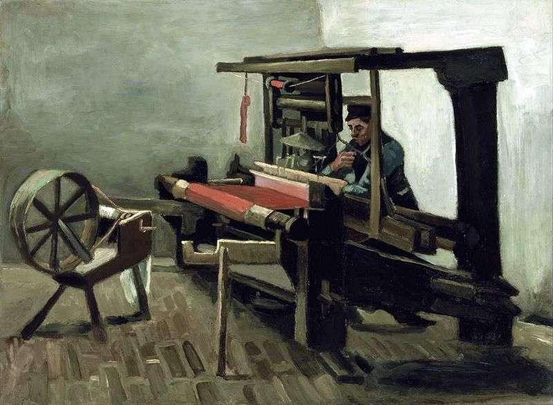 Weaver z kołowrotkiem zwrócił się do artysty lewą stroną   Vincent Van Gogh