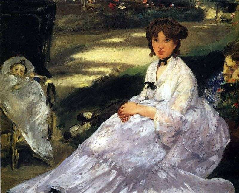 W ogrodzie   Edouard Manet