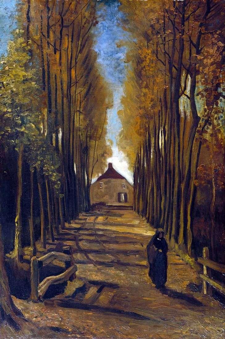 Aleja Poplar jesienią   Vincent Van Gogh