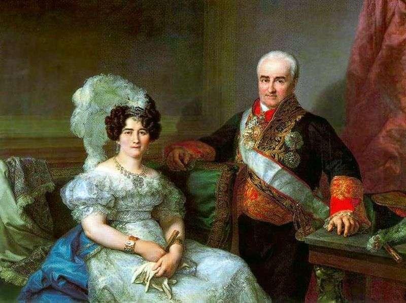 Portret Antonio Ugarte i jego żona   Lopez Porthan
