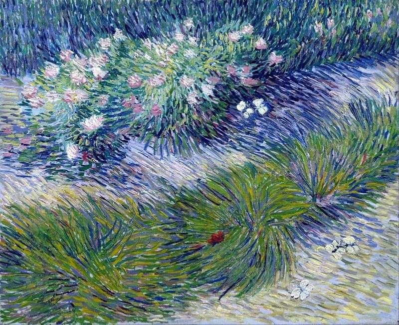 Trawa i motyle   Vincent Van Gogh
