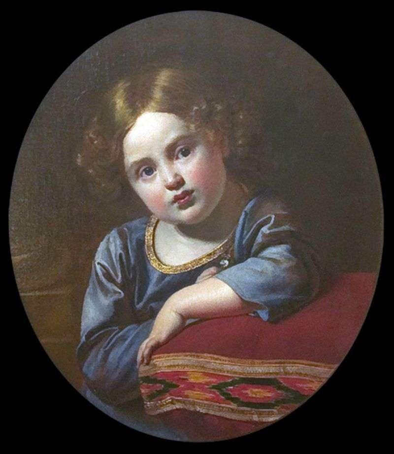 Portret E. G. Gagarina w dzieciństwie   Orest Kiprensky