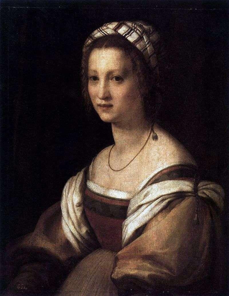 Portret żony artysty.   Andrea del Sarto