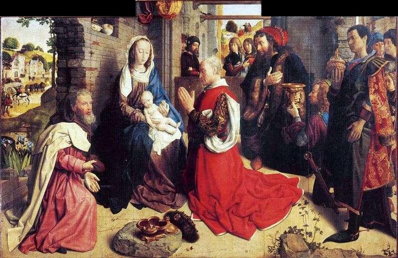 Pokłon Trzech Króli (Ołtarz Monforte)   Hugo Gus