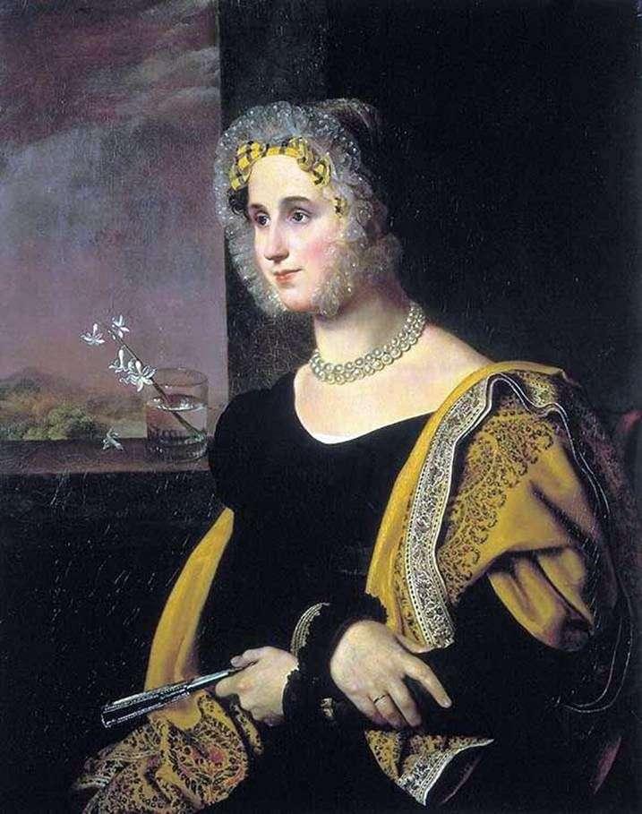 Portret E. S. Avdulina   Orest Kiprensky