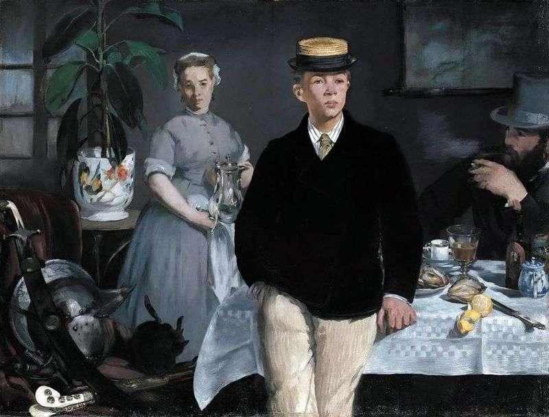 Śniadanie w warsztacie   Edouard Manet