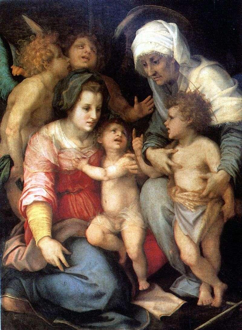 Święta rodzina z aniołami   Andrea del Sarto