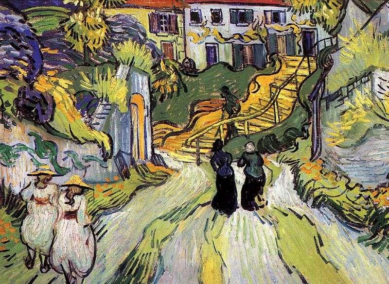 Ulica i schody w Auvers   Vincent Van Gogh