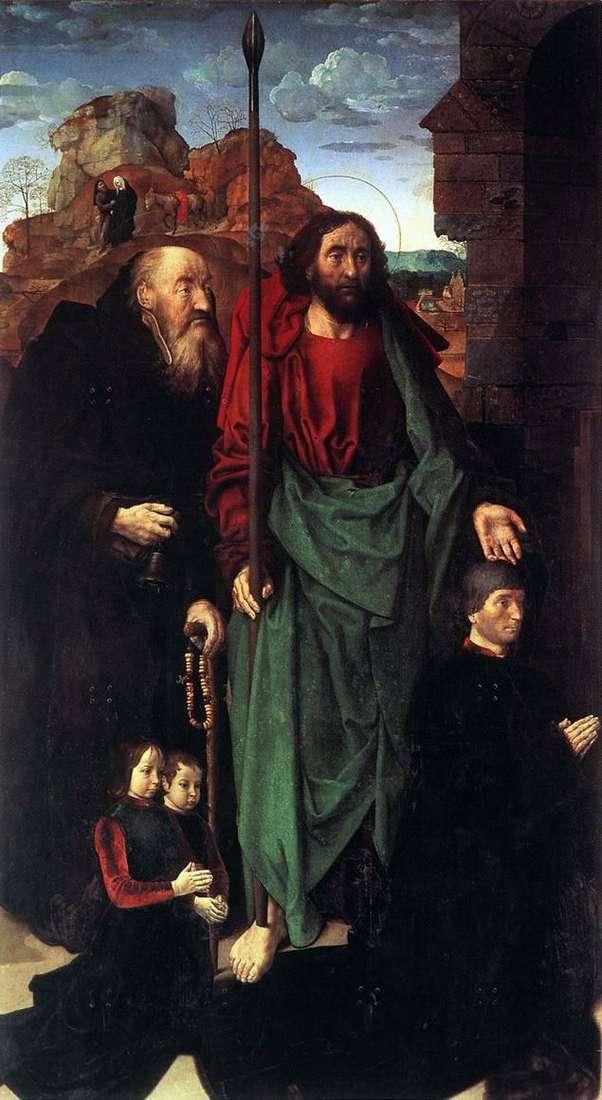 Boże Narodzenie (Altar Portinari). Lewe skrzydło   Hugo Gus