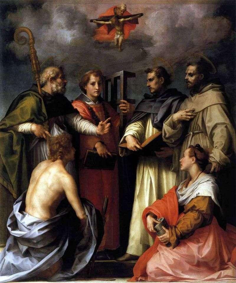 Trinity Dispute (Dispute)   Andrea del Sarto
