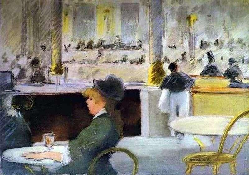 Wnętrze kawiarni   Edouard Manet