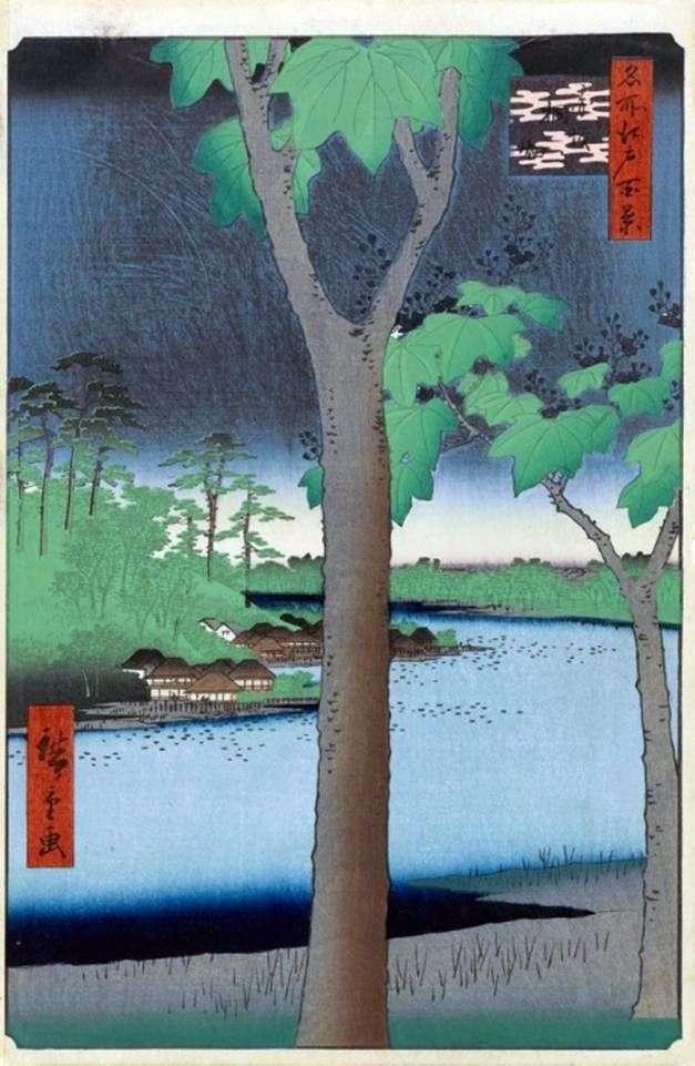 Akasaka, Plantacja Pawłowa   Utagawa Hiroshige
