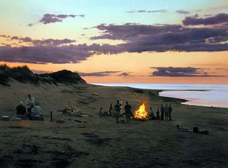 Ognisko na plaży   Scott Pryor